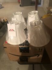 chandelier shades Set Of 4 Clip On White