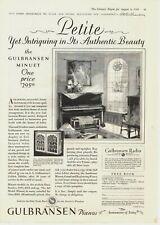 1928 Original Vintage Gulbransen Piano Magazine Ad