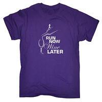 Run Now Wine Later MENS T-SHIRT birthday funny fashionrunning runner