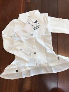 NWT New 110-116 Jottum KEES Adorable Ruffle Peplum Top T-Shirt Blouse