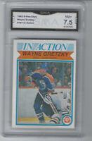 1982 O-Pee-Chee Hockey Wayne Gretzky IN ACTION #107 GMA 7.5 NM+