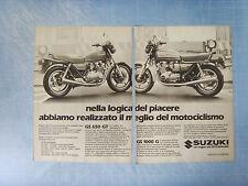 LAMOTO982-PUBBLICITA'/ADVERTISING-1982- SUZUKI GS 650 GT - GS 1000 G