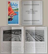Reiseprospekt: Die Adriatische Rivera (um 1935) Landeskunde Italien Tourismus xz