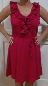 Lauren Ralph Lauren Sleeveless Ruffle Collar Dress Pink