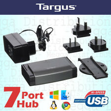 Targus Desktop 7 Port USB 2.0 Hub for Laptop/Macbook/PC/Mac + AC Power Adapter