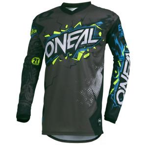 O'Neal 2021 Element Villain Jersey Gray - Motocross, Off-Road, Dirt Bike