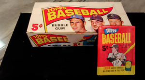 Rare 1965 TOPPS Mint Baseball Cards Original Pack of 5 W/Bonus Gold Embossed 3C
