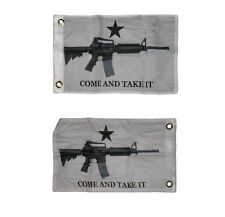 12x18 Come and Take it M4 Machine GUN Boat Flag Double Sided 2ply Sewn