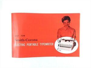 1950s Smith Corona Electric Portable Typewriter User Instruction Manual