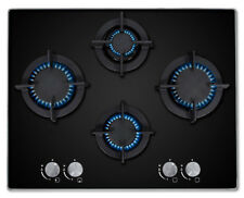 MyAppliances Art28925 60cm Built in 4 Burner Black Gas on Glass Hob