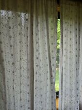 $70 Sweet Jojo Designs eyelet window curtain panels (2) EUC