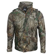 Mens Ex REALTREE Button Hoody Brush Jacket Hunting Farming Fishing Work Outdoor