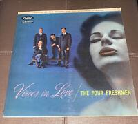 The Four Freshmen - Voices In Love (Vinyl 1958 VG+) Free Shipping