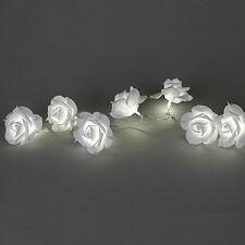 Formano Girlande Rose warm weiss mit LED Licht und Batteriebox mit Timer NEU