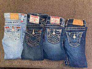 True Religion Casey Joey Julie Super T jeans LOT toddler girls 3 4 3T 4T