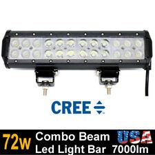 72W Cree LED Light Bar 12 inch Flood Spot Work UTE ATV 4x4 4WD Offroad light New
