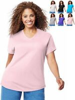 Just My Size V Neck T-Shirt OJ091 -- Buy Two Get One Free -- FREE SHIPPING