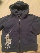 Ralph Lauren Polo Boys Sweatshirt Jacket Size 24 Months 2T Blue