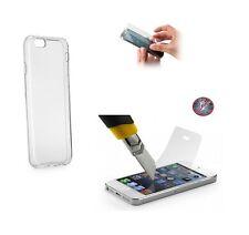 LG Q6 Cover Case Etui Silikonhülle ULTRA SLIM transparent 0,3mm + PANZERGLAS 9H