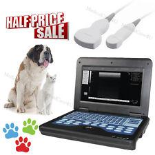 Veterinary Ultrasound Scanner Digital Laptop Vet Ultrasound Machine 2 Probes