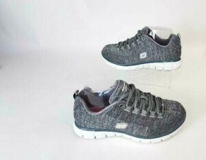 Skechers Womens Size 8.5 Elite Memory Foam Dual Lite Gray Shoes Sneakers