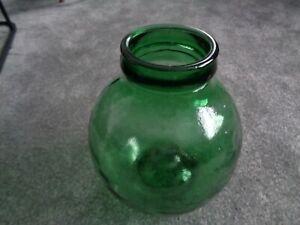 Green Viresa glass bottle garden
