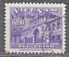 """South VIETNAM  1956 used SC#52 90c st., Ovpt """"Governmment Post Office Building""""."""