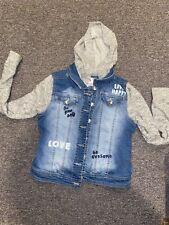 Justice Store Distressed Grafitti Jean Knit Jacket 10/12/14 EEUC