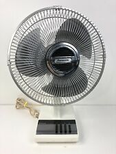 Panasonic Vintage Oscillating 3 Speed Fan &5 H/L Positions F1209-C