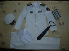 Obsolete 15's series China PLA Navy Man Officer Uniform,White,Set