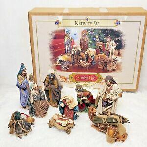 """Grandeur Noel Collector's Edition 9 Piece Nativity Set 2002 LARGE 11"""""""