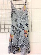 UK Plus Size Womens Summer Boho Floral Sundress Sleeveless Beach Party Dresses
