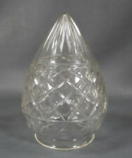 Antique Edwardian Cut Clear Glass Lamp Light Shade Acorn Pineapple Egg Shaped
