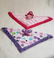"""Lot of 2 Carter's Security Blanket 1 Butterfly & 1 Ladybug 13"""""""
