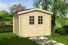 28 mm Gartenhaus 270x230 cm Gerätehaus Holzhaus Schuppen Holz Blockhaus NEU