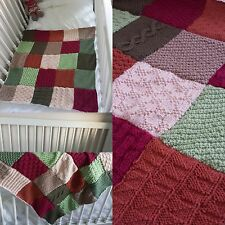 Patchwork girls crocheting knitting patterns ebay patchwork sampler baby blanket knitting pattern dt1010fo
