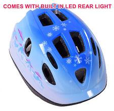 """RALEIGH """"MISTERO ICE"""" Bambino Casco Bici costruito in LED luce di sicurezza 48-54 cm Blu"""