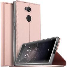 Handy Hülle Sony Xperia L2 Book Case Schutzhülle Tasche Slim Flip Cover