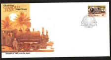 CRISTMAS ISLAND FDC COVER STEAM LOCOMOTIVE AND FLAT-CAR