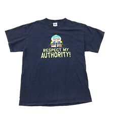 VINTAGE South Park Shirt Men's Size Medium Deputy Cartman RESPECT MY AUTHORITY