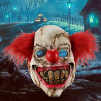 Halloween Full Face Latex Mask Scary Clown Costume Evil Creepy Party Horror Prop