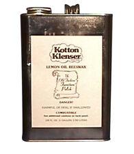Kotton Klenser Lemon OIL Beeswax Preservative Polish 1 Gallon