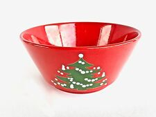 "Waechtersbach Western Germany Christmas Tree Serving Bowl 9"""