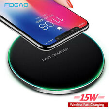 15W 10W Fast Qi Wireless Charger Charging Pad Mat For i Phone11 8 XS Samsung S10