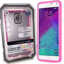 INCIPIO Octane Case SAMSUNG GALAXY NOTE 4 Rugged Soft Thin Cover CLEAR NEON PINK