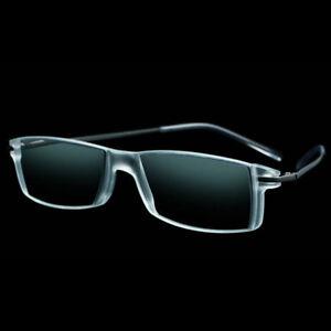 Eschenbach Progressive Reading Glasses Gun Metal Bifocal Readers +1 Diopter