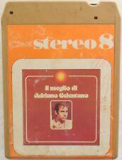 CARTRIDGE TRACK TAPE CASSETTA STEREO 8 IL MEGLIO DI ADRIANO CELENTANO 1975