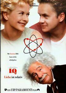Kino # Original Presse-Information # I.Q. - Liebe ist relativ # Schepisi # 1995