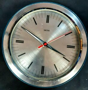 Vintage Retro Smiths Industries Battery Wall Clock Tuning Fork Movement 1970s