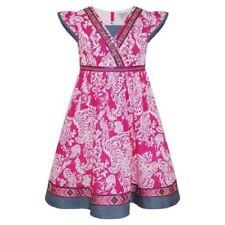 Abbigliamento floreale con scollo a v per bambine dai 2 ai 16 anni